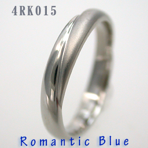 結婚指輪 マリッジリング プラチナ RomanticBlue(ロマンティックブルー) 4RK015 サファイヤ入り【送料無料】(e-宝石屋)ジュエリー 通販 ギフト 刻印無料(文字彫り) ペア ペアリング jbcb 刻印無料 【ホワイトデー特集2020】