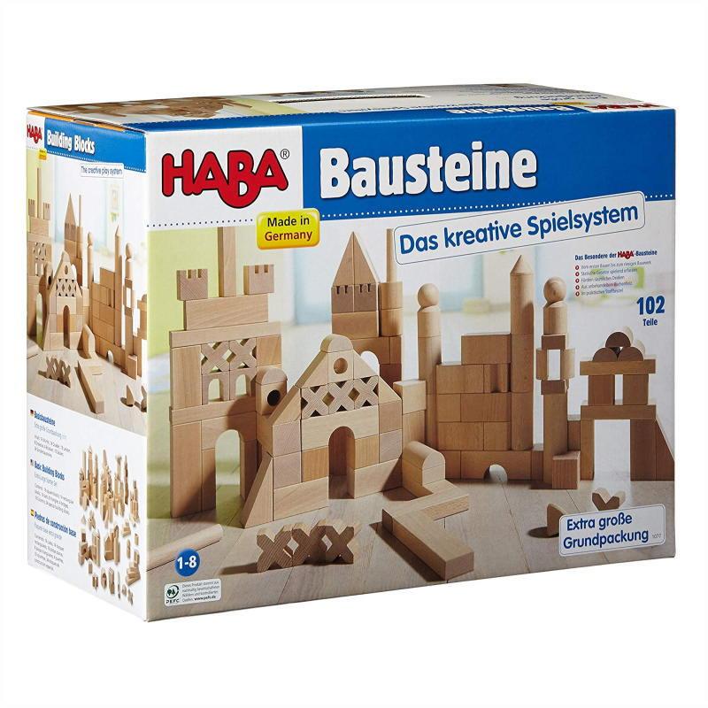 できた!が体感できる、まずは1個ずつ積んでみる。空間認識の発達を促し様々な形を発見しながら造形する。楽しい白木の積み木♪ 【クーポン配布中】在庫あり【送料無料】ブロックス グランドセット HA1077 木のおもちゃ 知育 玩具 積木 積み木 つみき ブロック 白木 ハバ HABA ドイツ