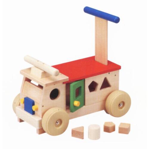 【クーポン配布中】KH-602 カラフルバス 木のおもちゃ 乗用玩具 乗り物 【送料無料】