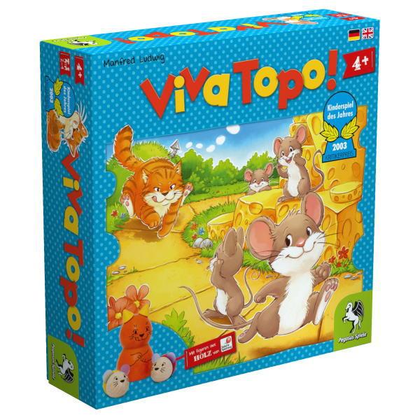 ねことねずみの大レースPG66003 誕生日 プレゼント 爆安 倉庫 家あそび 男の子 ねことねずみの大レース Viva Topo PG66003ゲーム 知育玩具 ペガサス社 日本語 木のおもちゃすごろくゲーム すごろく ボードゲーム ドイツ