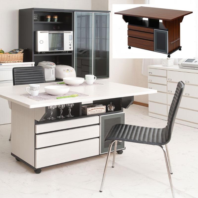 【すぐ使えるクーポン配布中】 バタフライ カウンターテーブル 幅119.5cm テーブル デスク キッチン カウンター 作業台