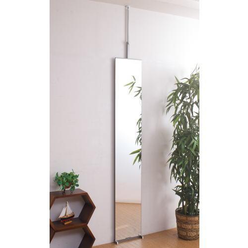 突っ張り 壁面 ミラー 幅30cm 【代引不可】 鏡 全身 姿見 送料無料