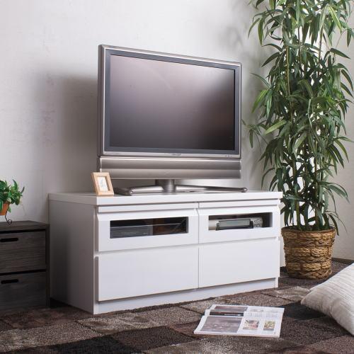 スタイリッシュ TVボード 幅100cm ホワイト 【送料無料】