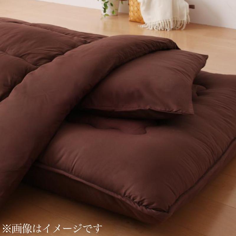 ボリューム布団6点セット【送料無料】 羊毛混タイプ クイーン