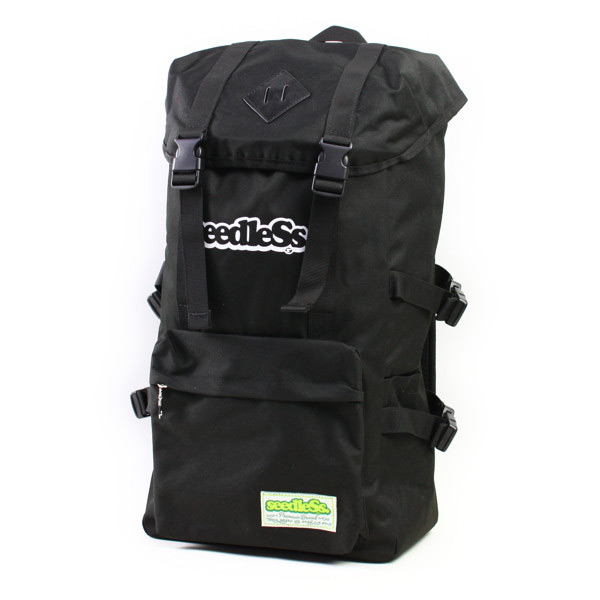 seedleSs. バックパック COVER BACKPACK black (シードレス)(バッグ)