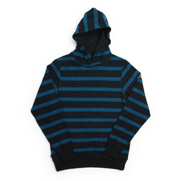 THE HUNDREDS リバーシブルパーカーFREER REVERSIBLE 黒×ブルー