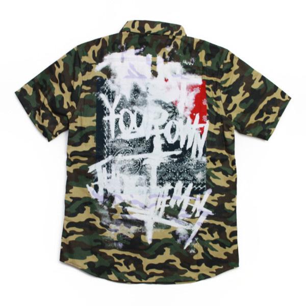 Zephyren 半そでシャツ TRUST BANDANA SHIRT  CAMO(迷彩) (ゼファレン)