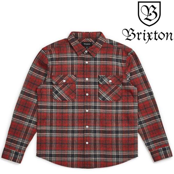 BRIXTON 長袖シャツ  BOWERY BRICK/STEEL ブリクストン