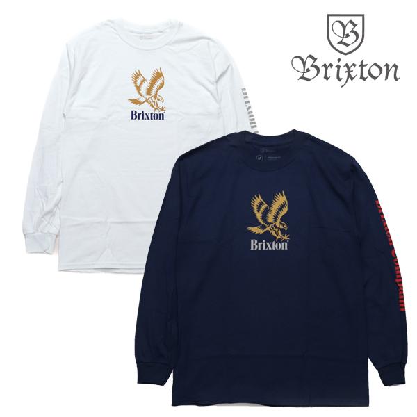 BRIXTON ロンTee DESCENT 即納最大半額 長袖 NEW売り切れる前に☆ Tシャツ FIT STANDARD