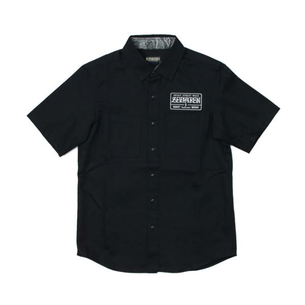 Zephyren 半そでシャツ EMBLEM  黒 (ゼファレン)(メンズサイズ)