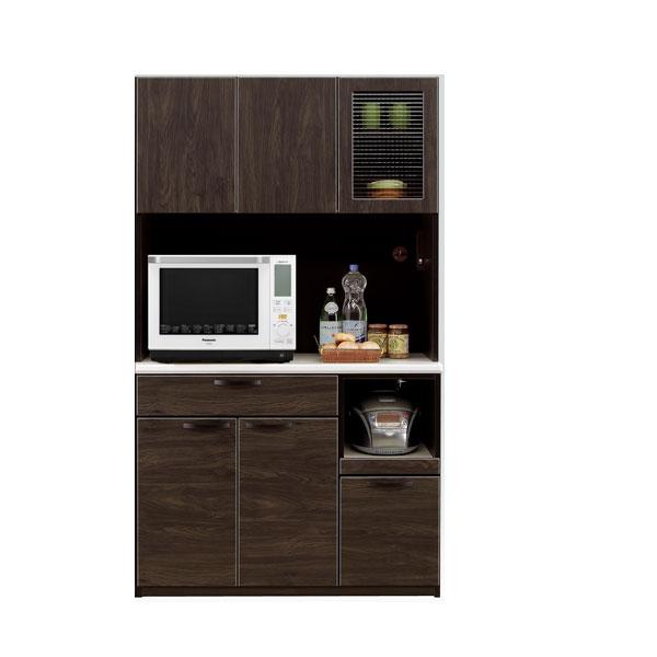 食器棚 キッチンボード 完成品 組み立て不要 国産 日本製 幅105 奥行き45 高さ180 ブラウン ブラックシンプル スタイリッシュ オシャレ シック モダン