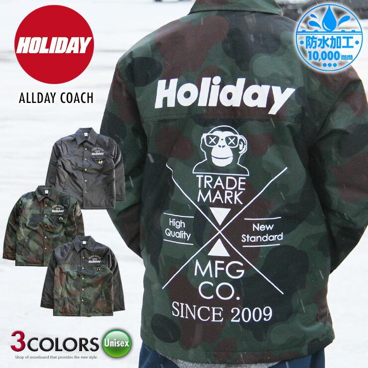 HOLIDAY ホリデー ALLDAY COACH コーチジャケット 19-20 2020 ユニセックス 男女兼用 スノーボード スキー【スノータウン】