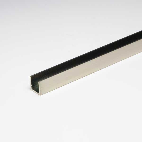 2020 新作 お店やオフィスなどの間仕切 パーテーションなどに ガラススクリーン用のポールです 真鍮チャンネル 激安特価品 ガラススクリーンポールSタイプ用下レール 12.5 内寸8.5mm ニッケルサテン x30mmx1000mm