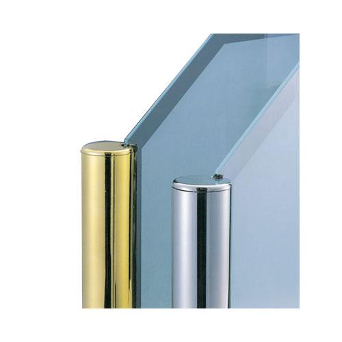 お店やオフィスなどの間仕切 パーテーションなどに ガラススクリーン用のポールです 新作からSALEアイテム等お得な商品満載 ガラススクリーンポール ブースバー Sタイプ 角二方 正規品送料無料 インロー固定 x L250mm 32mm ニッケルサテン キリコミ平頭