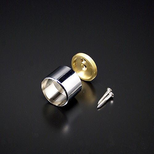 パイプブラケットやパイプソケット 丸パイプを多数取り揃え販売 真鍮製やステンレス製など材質も 市販 寸法サイズや色も豊富 二重ソケット 9.5mm用 クロームメッキ HRS-5 新着セール
