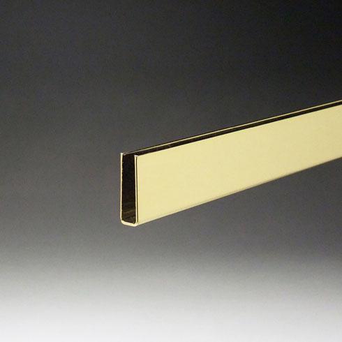 真鍮破損止 5mm用(深型)x2000mm ゴールドメッキ