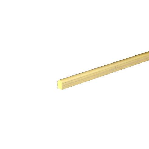 真鍮押渕(甲丸) 生地 18x27x3000mm 【※サービスカット対応商品です】