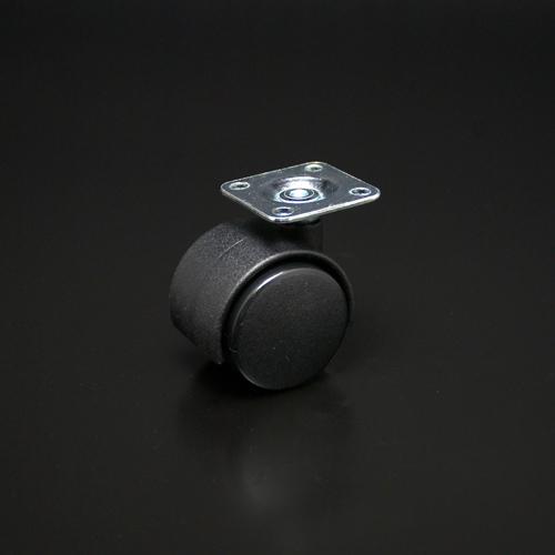 双輪キャスター(軽荷重用) プレートタイプ ストップ無 51mm 100個ケース入