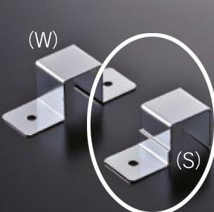 メーカー公式ショップ 日本正規代理店品 組立パイプシステムのパイプユニット 自由にご希望サイズのディスプレイラックが製作できます 組立パイプシステム UPS-19S 19mm角パイプ用 固定金具S クロームメッキ