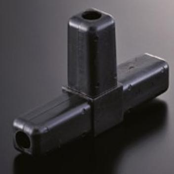 組立パイプシステムのパイプユニット 付与 自由にご希望サイズのディスプレイラックが製作できます 組立パイプシステム 直営ストア UPS-25S 25mm角アルミパイプ用 黒 樹脂製 3P コネクター