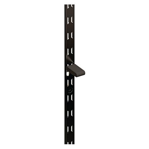【棚柱 最薄】 リーフ棚柱 KTR-2R 1820mm ブラック 60本ケース入 【あす楽対応】