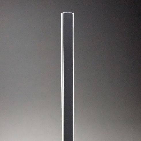 フラッシュ棚柱(ワイドタイプ) KTR-4FW 1820mm ブラック 40本ケース入 【あす楽対応】
