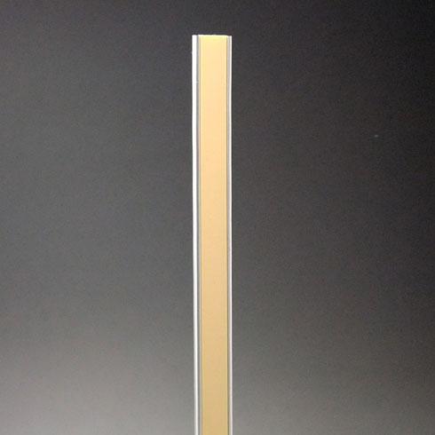 フラッシュ棚柱(ワイドタイプ) KTR-4FW 2430mm ナチュラルブラウン 40本ケース入 【あす楽対応】