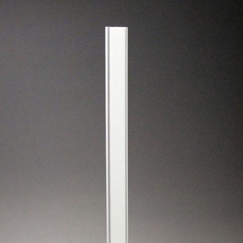 フラッシュ棚柱(ワイドタイプ) KTR-4FW 2430mm ホワイト 40本ケース入 【あす楽対応】