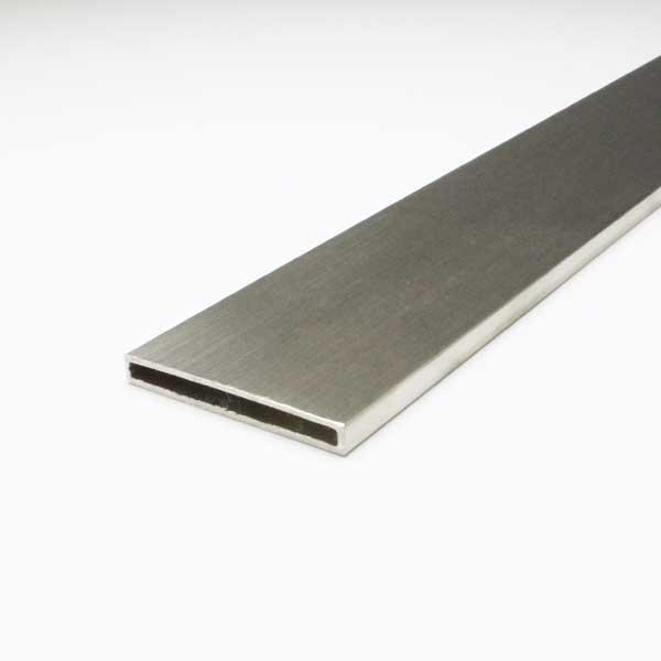 ステンレスフラット角パイプ SUS304 1.5x6x50x4000mm ヘアライン仕上 【※サービスカット対応商品です】