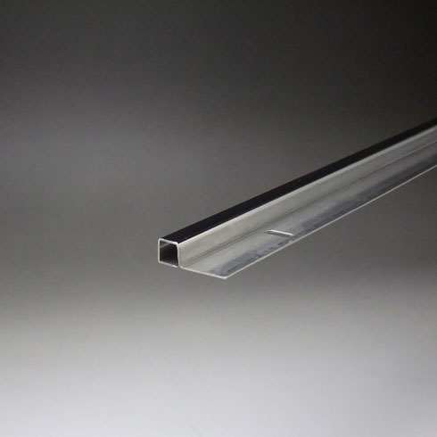 ステンレスミラーエッジ(小判穴付) 14x14x4000mm 鏡面(#600研磨)仕上 【※サービスカット対応商品です】