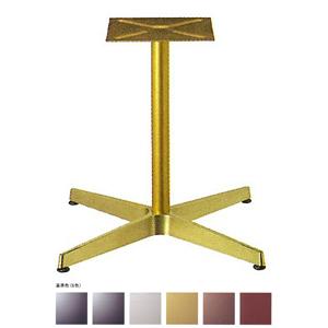 テーブル脚 AB2700 ベース500x500 パイプ42.7φ 受座240x240 アルミゴールド/塗装パイプ AJ付 高さ700mmまで