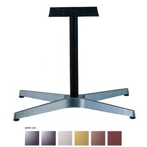 テーブル脚 AB3700 ベース600x370 パイプ42.7φ 受座240x240 アルミシルバー/塗装パイプ AJ付 高さ700mmまで