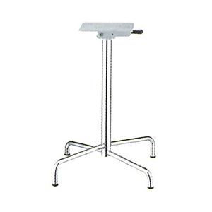 テーブル脚 アポロS2600(スタッキング収納式) ベース425x425 パイプ50.8φ 受座240x240 クロームメッキ AJ付 高さ700mmまで