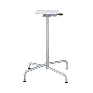 テーブル脚 アポロS2700(スタッキング収納式) ベース495x495 パイプ50.8φ 受座240x240 I41紛体塗装 AJ付 高さ700mmまで