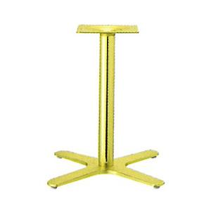 テーブル脚 エリアS2550 ベース400x400 パイプ50.5φ 受座240x240 ショットゴールド AJ付 高さ700mmまで
