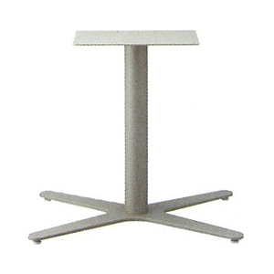テーブル脚 エリアS3800 ベース660x465 パイプ60.5φ 受座250x400 F20紛体塗装 AJ付 高さ700mmまで