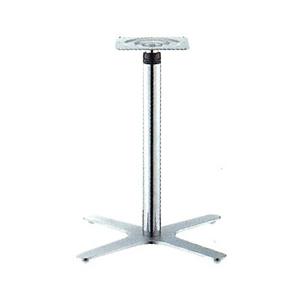 ラチェット昇降式テーブル脚 エリアSC2650 ベース475x475 パイプ60.5φ 受座240x240 ショットクローム AJ付 高さ570mm~870mm