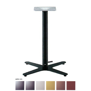 ガス昇降式テーブル脚 エリアSG2650 ベース475x475 パイプ60.5φ 受座240x240 基準色塗装 AJ付 高さ680mm~930mm