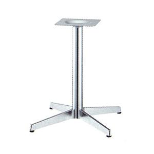 テーブル脚 ベストS2650 ベース465x465 パイプ60.5φ 受座240x240 ショットクローム AJ付 高さ700mmまで