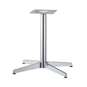 テーブル脚 ベストS3650 ベース520x380 パイプ60.5φ 受座240x240 ショットクローム AJ付 高さ700mmまで