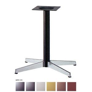 テーブル脚 ベストS3800 ベース645x470 パイプ60.5φ 受座240x240 ショットクローム/塗装パイプ AJ付 高さ700mmまで