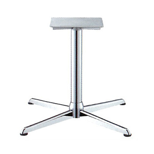 テーブル脚 コルサエルS21000 ベース710x710 パイプ76.3φ 受座350x350補強付 クロームメッキ AJ付 高さ700mmまで