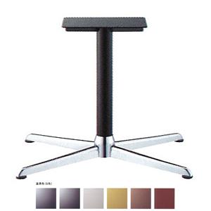 テーブル脚 コルサエルS3900 ベース730x510 パイプ76.3φ 受座250x400補強付 クローム/塗装パイプ AJ付 高さ700mmまで