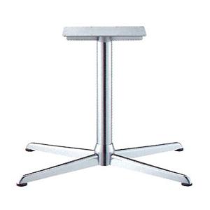 テーブル脚 コルサエルS3900 ベース730x510 パイプ76.3φ 受座250x400補強付 クロームメッキ AJ付 高さ700mmまで
