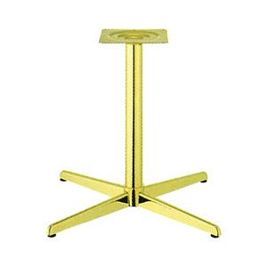 テーブル脚 コルサS2800 ベース570x570 パイプ60.5φ 受座240x240 ゴールドメッキ AJ付 高さ700mmまで