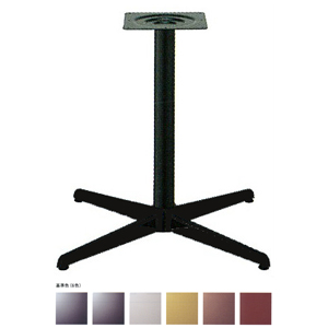 テーブル脚 コルサS2600 ベース430x430 パイプ60.5φ 受座240x240 基準色塗装 AJ付 高さ700mmまで