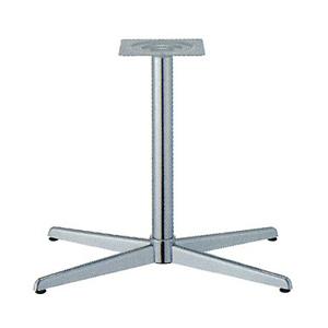 テーブル脚 コルサS3700 ベース600x360 パイプ60.5φ 受座240x240 クロームメッキ AJ付 高さ700mmまで