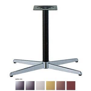 テーブル脚 コルサS3800 ベース680x410 パイプ60.5φ 受座240x240 クローム/塗装パイプ AJ付 高さ700mmまで