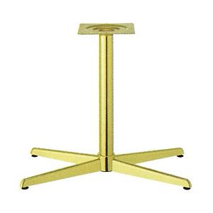 テーブル脚 コルサS3700 ベース600x360 パイプ60.5φ 受座240x240 ゴールドメッキ AJ付 高さ700mmまで