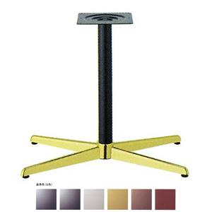 テーブル脚 コルサS3600 ベース520x310 パイプ60.5φ 受座240x240 ゴールド/塗装パイプ AJ付 高さ700mmまで